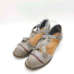 Rieker Mary Jane X T-straps Leather Shoes